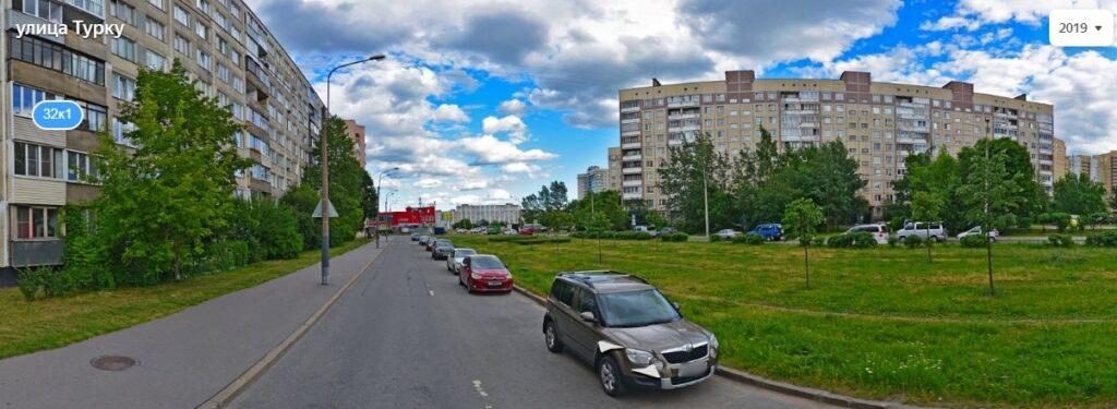 Улица Турку Санкт-Петербург. Панорама.