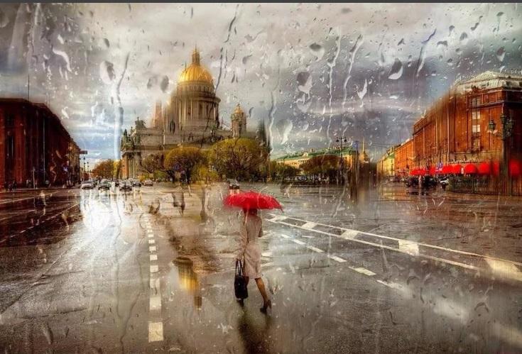 летний дождь в питере