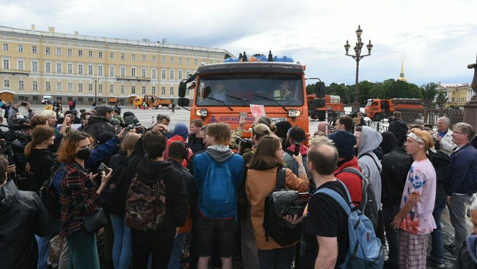 акции протеста дворцовая