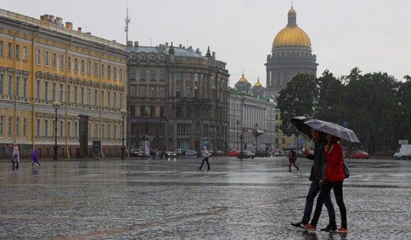 петербург холодно дождливо