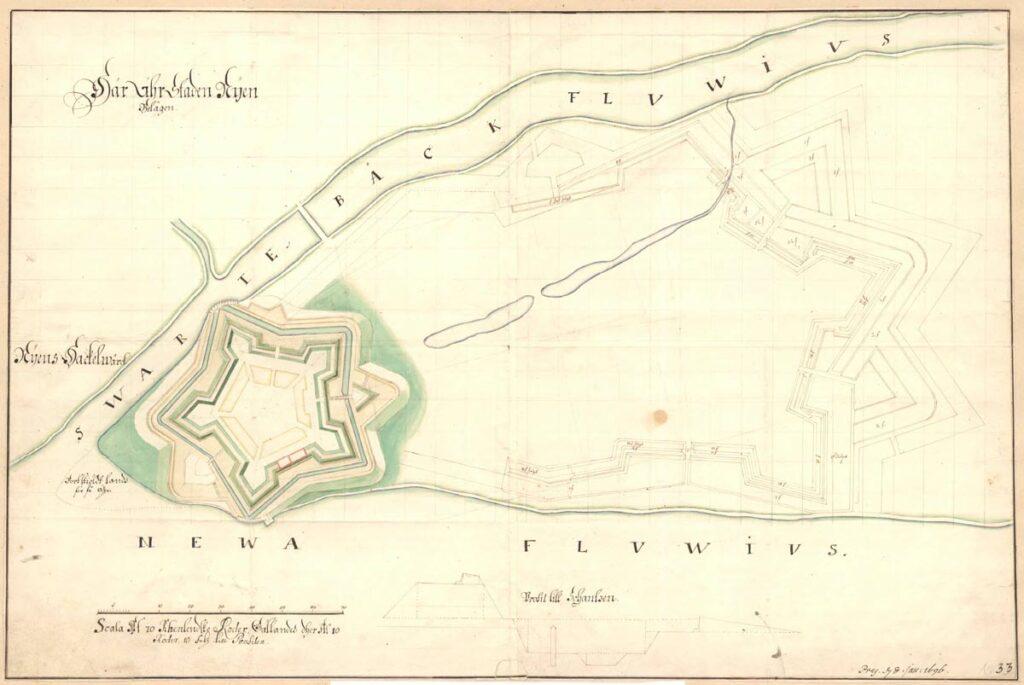 крепость ниеншанц в конце 17 века