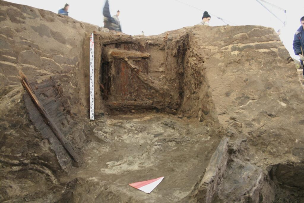 Потайная дверь Мертвого бастиона крепости Ниеншанц. Раскопки 2006–2009 гг.