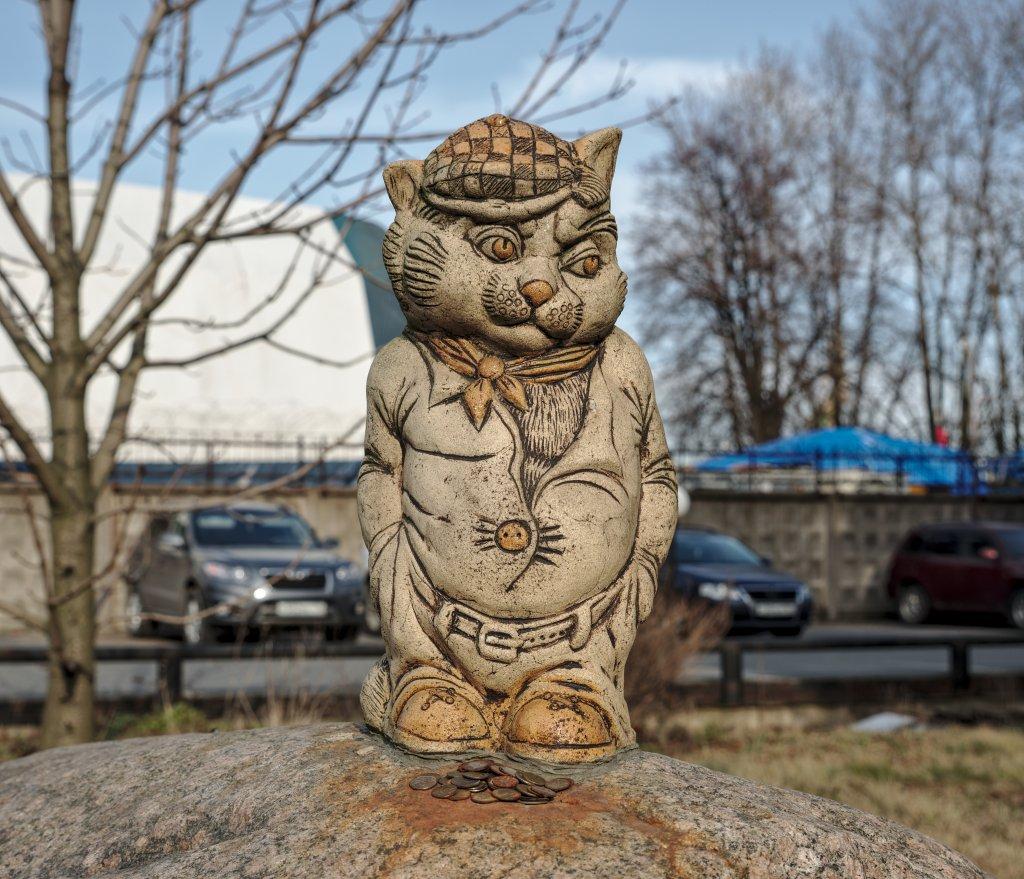 Скульптура кота на Канонерском острове Санкт-Петербурга - история появления