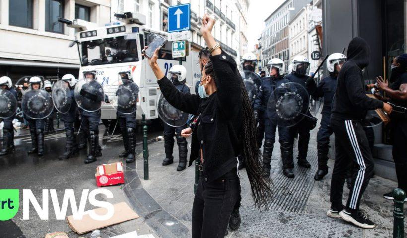митинг против полицейского насилия бельгия