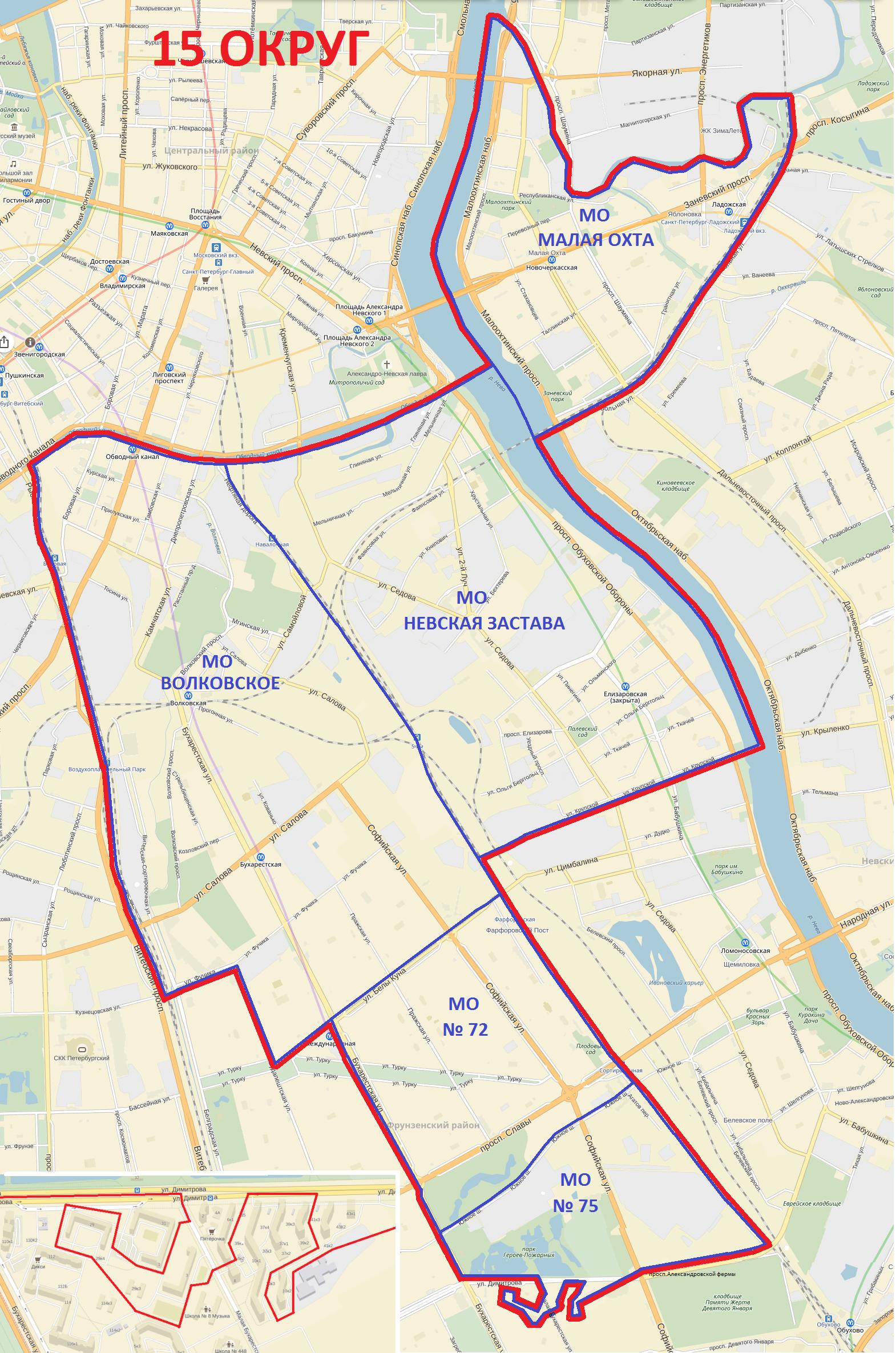 15-й одномандатный округ петербург